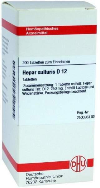 Hepar Sulfuris D12 Tabletten 200 Tabletten