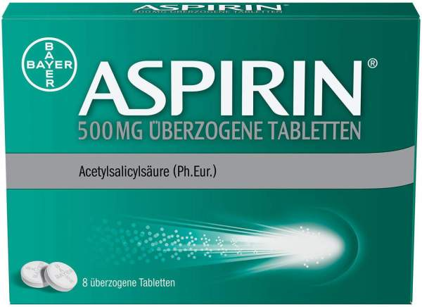 Aspirin 500 mg 8 überzogene Tabletten