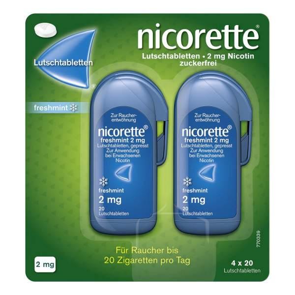 Nicorette Freshmint 2 mg 80 Lutschtabletten