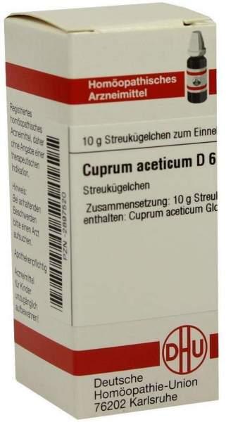 Cuprum Aceticum D6 Globuli 10 G Globuli