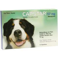 Capstar 57 mg Tabletten für große Hunde 6 Tabletten
