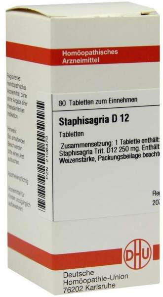 Staphisagria D 12 80 Tabletten