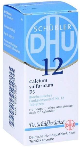 Schüßler Dhu 12 Calcium Sulfuricum D 3 80 Tabletten