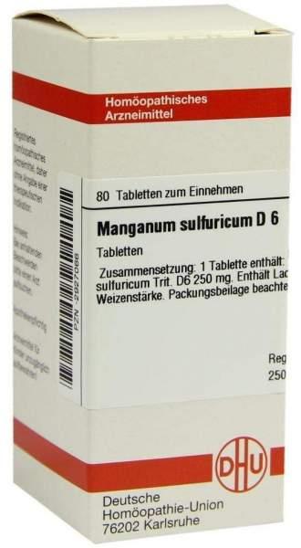 Manganum Sulfuricum D6 Dhu 80 Tabletten