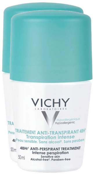 Vichy Deo Roll On Anti Transpirant 48h Doppelpack 2 x 50 ml Stift