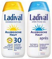 Sparset Sonnenschutz Ladival allergische Haut Gel LSF 30 200ml + Ladival Allerg. Apres Gel 200ml