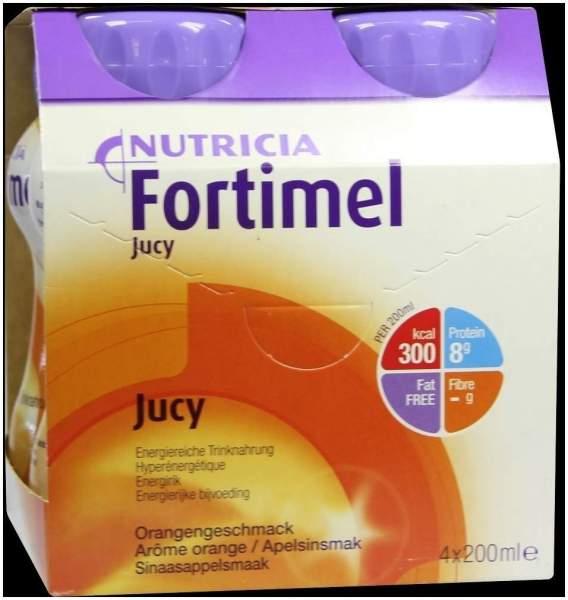 Fortimel Jucy Orangengeschmack 4 X 200 ml Flüssigkeit