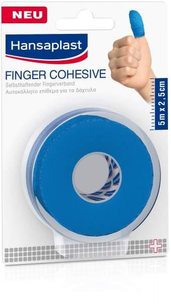 Hansaplast Selbsthaftender Fingerverband 5 m x 2,5 cm blau