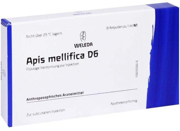Apis mellifica D 6 Weleda 8 Ampullen