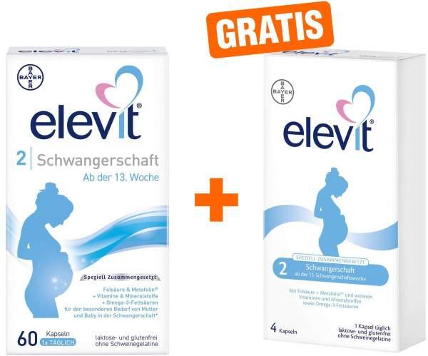 Elevit 2 Schwangerschaft 60 Kapseln + gratis 8 Kapseln
