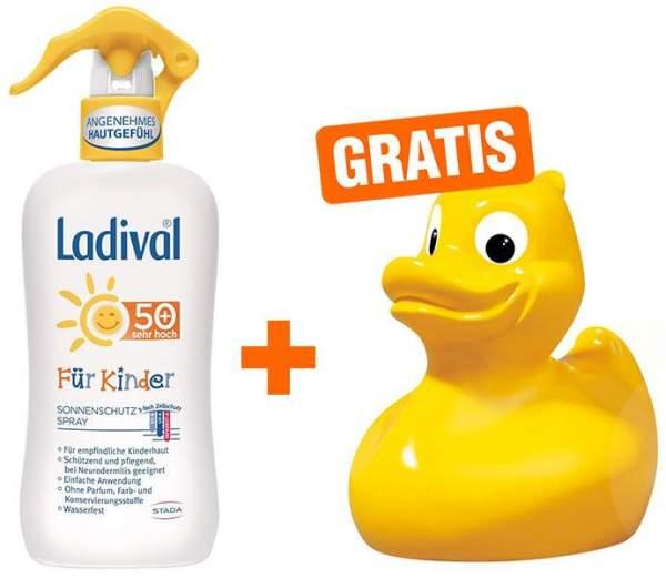 Ladival Sonnenschutz Spray für Kinder LSF 50+ 200 ml + gratis Badeente
