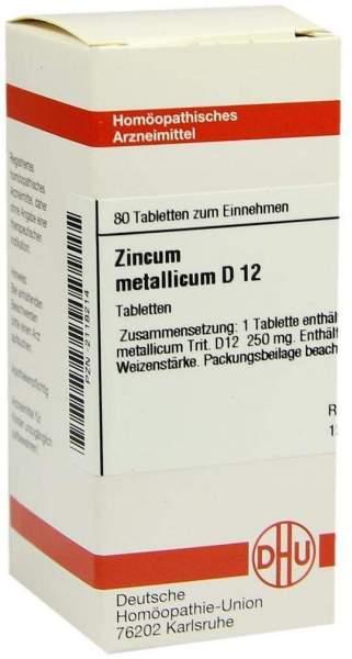 Zincum Metallicum D12 Tabletten 80 Tabletten
