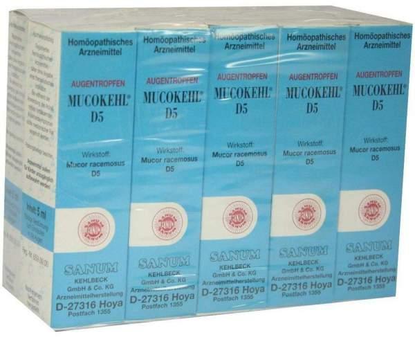Mucokehl D 5 10 X 5 ml Augentropfen