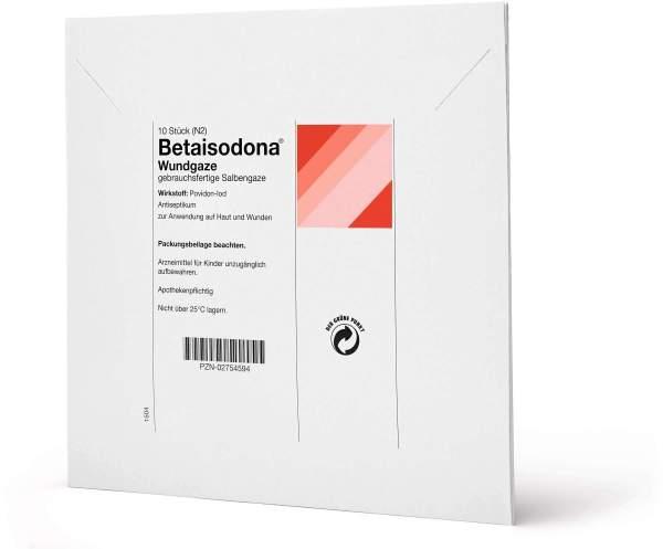 Betaisodona Wundgaze (salbengaze) 10 X 10 cm 10 Stück
