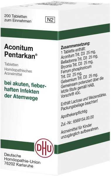 Aconitum Pentarkan 200 Tabletten