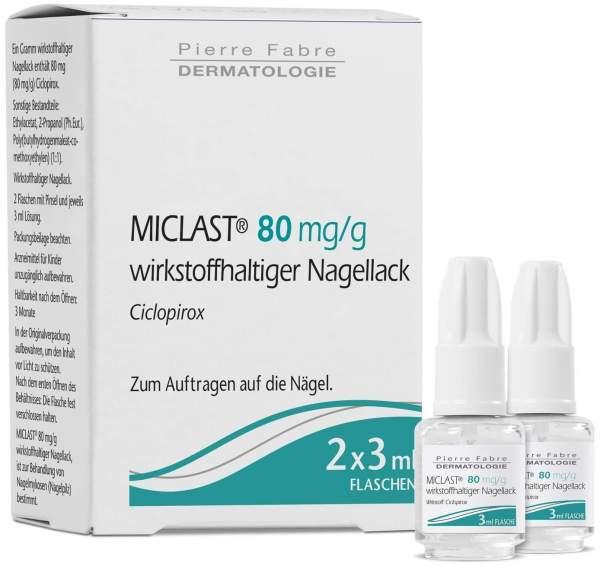 Miclast 80 mg pro g wirkstoffhaltiger Nagellack 2 x 3 ml