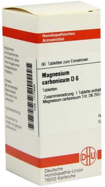 Magnesium Carbonicum D6 Dhu 80 Tabletten