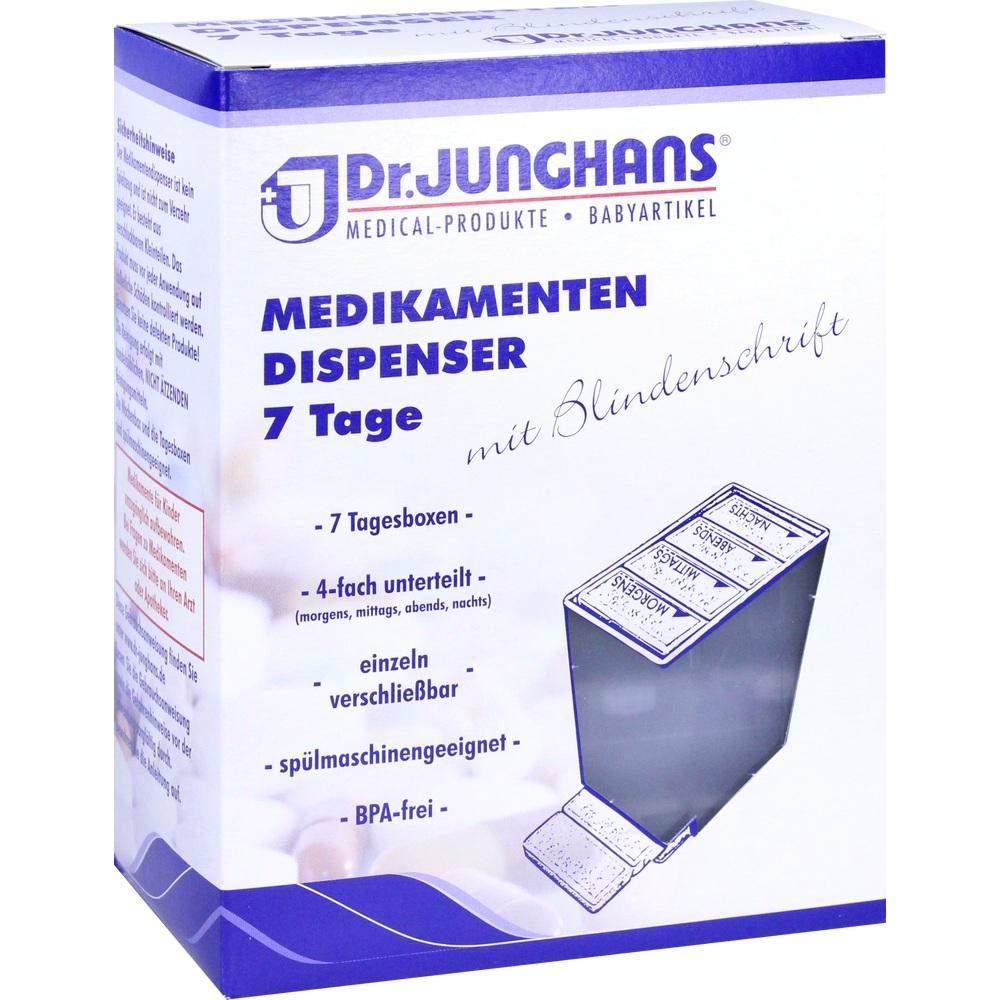 Medikamenten Dispenser 7 Tage Weiß Transparent ...
