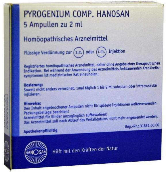 Pyrogenium Comp. Hanosan Ampullen 5 X 2 ml Ampullen