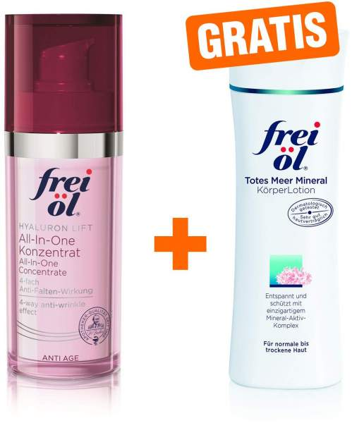 Frei Öl Anti-Age Hyaluron Lift all-in-one 30 ml + gratis Totes Meer Mineral Körper Lotion 200 ml