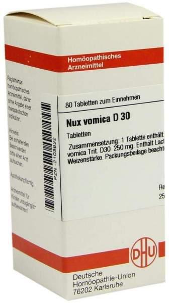 Nux Vomica D30 Dhu 80 Tabletten
