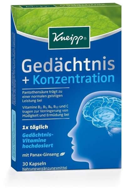 Kneipp Gedächtnis + Konzentration 30 Kapseln