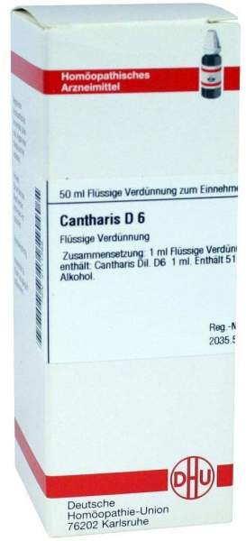 Cantharis D 6 50 ml Dilution