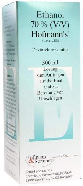 Ethanol 70% Hofmanns 500 ml Lösung