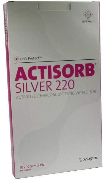 Actisorb 220 Silver 19x10,5cm Steril Kompressen
