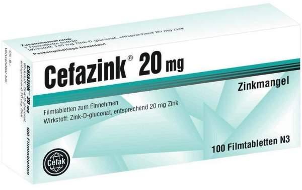 Cefazink 20 mg 100 Filmtabletten