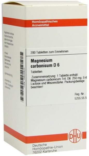 Magnesium Carbonicum D6 Dhu 200 Tabletten