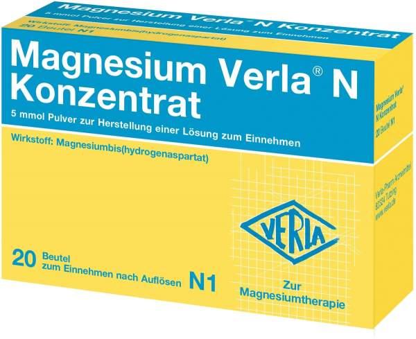 Magnesium Verla N Konzentrat 20 Pulver