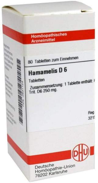 Hamamelis D6 Dhu 80 Tabletten
