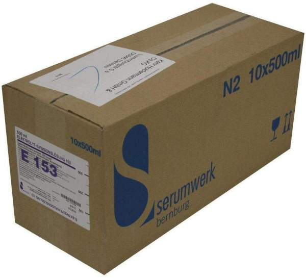 Elektrolyt Infusionslösung 153 10 X 500 ml Infusionslösung