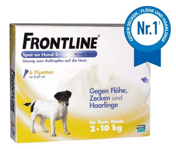 Frontline Spot On Hund S 2-10kg 6 Lösungen