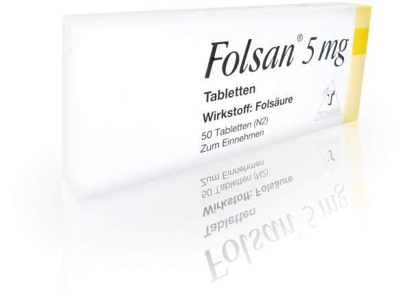 Folsan 5 mg 50 Tabletten