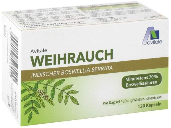 Weihrauch 450 mg Boswellia Serrata 120 Kapseln