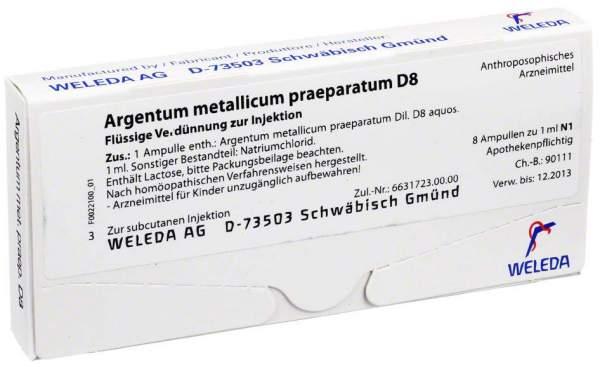 Weleda Argentum Metallicum Praeparatum D8 8 Ampullen