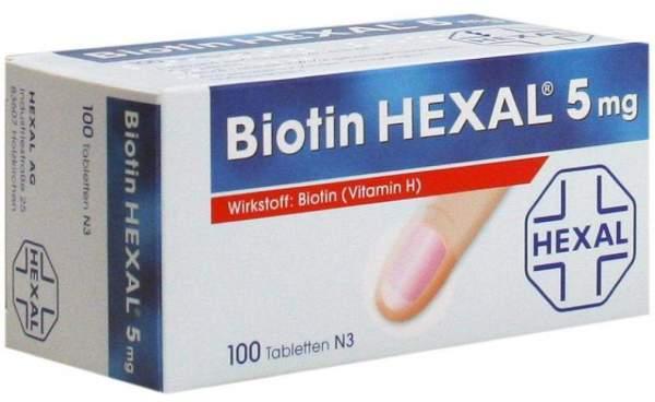 Biotin Hexal 5 mg 100 Tabletten