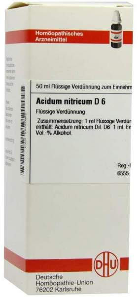 Acidum Nitricum D6 Dhu 50 ml Dilution