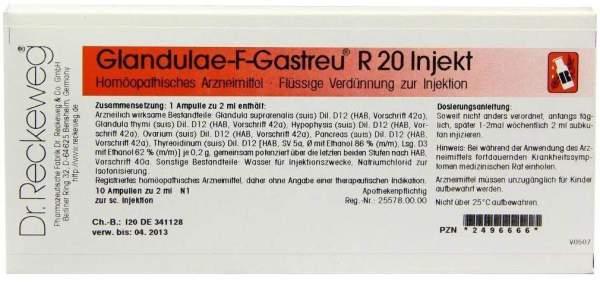Glandulae F Gastreu R 20 Injekt Ampullen