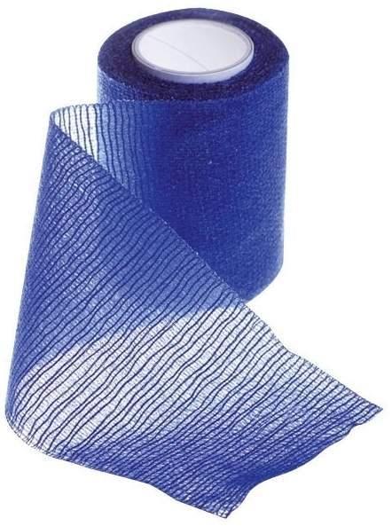Elastische Fixierbinde Krepp in blau, 6 cm breit