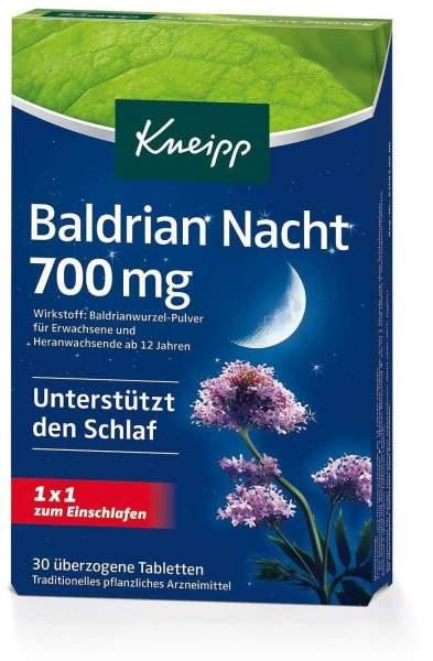 Kneipp Baldrian Nacht 700 mg 30 Tabletten
