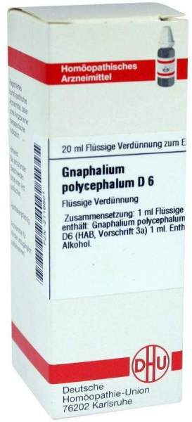 Gnaphalium Polyceph. D6 20 ml Dilution