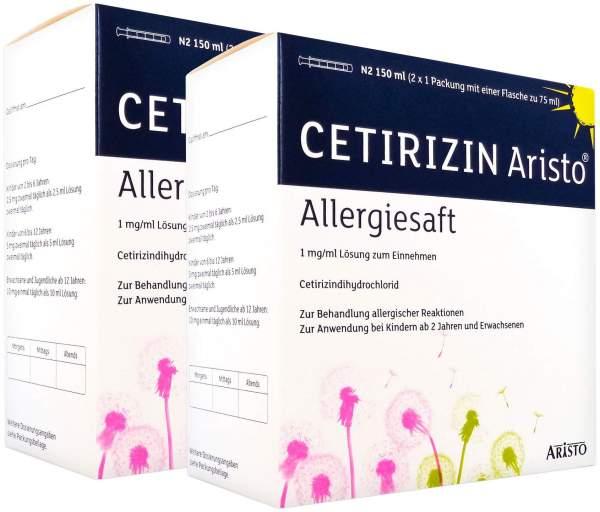 Cetirizin Aristo Allergiesaft 2 x 150 ml