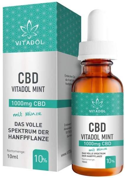 CBD 10% Bio Hanfextrakt Öl Vitadol mint 10 ml