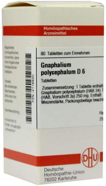Gnaphalium Polyceph. D6 80 Tabletten
