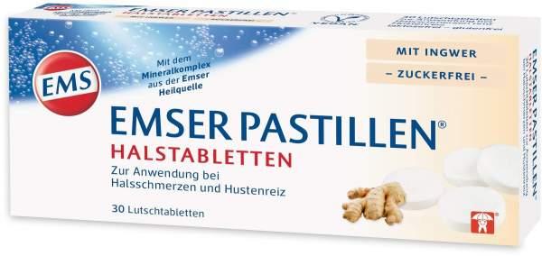 Emser Pastillen Halstabletten mit Ingwer zuckerfrei 30 Stück