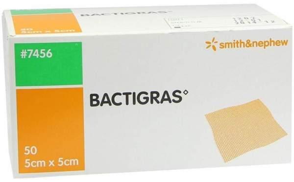 Bactigras Antiseptische Paraffingaze 5 cm X 5 cm 50 Stück