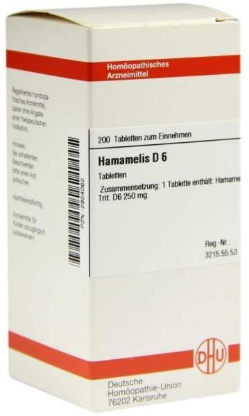 Hamamelis D6 Dhu 200 Tabletten